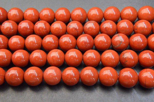10mm レッドジャスパー 1連(約38cm)_R1332 天然石 卸売問屋 パワーストーン卸通販の福縁閣 ブレスレット 連ビーズ