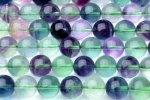 10mm フローライト A 1連(約38cm)_R1403 天然石 卸売問屋 パワーストーン卸通販の福縁閣 ブレスレット 連ビーズ アクセサリー