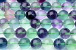 12mm フローライト A 1連(約38cm)_R1404 天然石 卸売問屋 パワーストーン卸通販の福縁閣 ブレスレット 連ビーズ アクセサリー