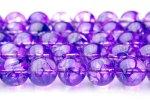 クラック水晶(紫) 10mm 1連(約38cm)_R774-10 天然石 卸売問屋 パワーストーン卸通販の福縁閣 ブレスレット 連ビーズ アクセサリー