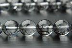 クラック水晶(黒) 8mm 1連(約38cm)_R775-8 天然石 卸売問屋 パワーストーン卸通販の福縁閣 ブレスレット 連ビーズ アクセサリー