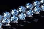 10mm 水晶 ブルー ホヌ彫り 1連(約38cm)[R1575-10]