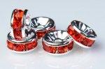8mm 【平型 銀ロンデル(赤)】(100個入り)ロンデル[KZ35-8]E11 天然石 卸売問屋 パワーストーン卸通販の福縁閣 ブレスレット 連ビーズ アクセサリー