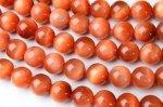 AAAサンセットタイガーアイ(オレンジタイガーアイ)8mm 1連(約38cm)_R1650-8 天然石 卸売問屋 パワーストーン卸通販の福縁閣 ブレスレット 連ビーズ アクセサリー