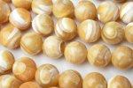 マザーオブパール(ブラウン)8mm 1連(約35cm)_R1656-8 天然石 卸売問屋 パワーストーン卸通販の福縁閣 ブレスレット 連ビーズ アクセサリー