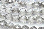 天然石水晶64面シルバーオーラ 8mm 1連(約38cm)_R1660-8 天然石 卸売問屋 パワーストーン卸通販の福縁閣 ブレスレット 連ビーズ アクセサリー