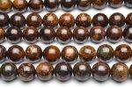 天然石A良質ブロンザイト 8mm 1連(約38cm)_R1663-8
