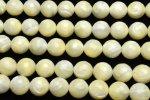 天然石良質マザーオブパール (128面カット)6mm 1連(約35cm)[R1665-6] 天然石 卸売問屋 パワーストーン卸通販の福縁閣 ブレスレット 連ビーズ アクセサリー