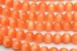 キャッツアイ (オレンジ)8mm 1連(約35cm)_R1674-8 天然石 卸売問屋 パワーストーン卸通販の福縁閣 ブレスレット 連ビーズ アクセサリー