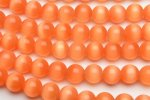 キャッツアイ (オレンジ)12mm 1連(約35cm)_R1674-12 天然石 卸売問屋 パワーストーン卸通販の福縁閣 ブレスレット 連ビーズ アクセサリー