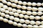 淡水真珠パール ライス ホワイト 4〜5mm 1連(約35cm)_R1922-4 天然石 卸売問屋 パワーストーン卸通販の福縁閣 ブレスレット 連ビーズ アクセサリー