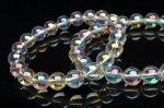 水晶レインボーオーラ 12mm ブレスレット[RLA3415]  天然石 卸売問屋 パワーストーン卸通販の福縁閣 ブレスレット 連ビーズ アクセサリー