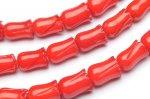 レッドコーラル(赤珊瑚) チューリップ 5x8mm 1連(約38cm)_R1955-5