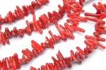 レッドコーラル(赤珊瑚) チップ(ミニタンブル) 2x12mm 1連(約38cm)_R1957 天然石 卸売問屋 パワーストーン卸通販の福縁閣 ブレスレット 連ビーズ アクセサリー