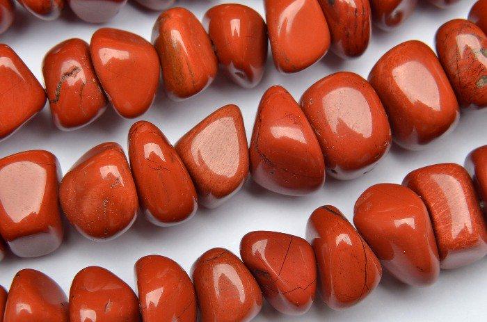 レッドジャスパー ミニタンブル 8x10mm 1連(約38cm)_R2175 天然石 卸売問屋 パワーストーン卸通販の福縁閣 ブレスレット 連ビーズ