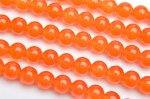 ジェード オレンジ 6mm 1連(約38cm)_R2181-6 天然石 卸売問屋 パワーストーン卸通販の福縁閣 ブレスレット 連ビーズ アクセサリー