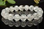 パワーストーン 天然石 クラック水晶 レディース メンズ ブレスレット 数珠 A521 天然石 卸売問屋 パワーストーン卸通販の福縁閣 ブレスレット 連ビーズ アクセサリー