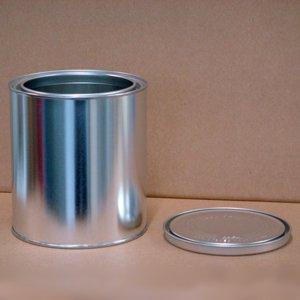 空缶 無地 丸1/4G缶 (ロックペイント製品サイズ缶)