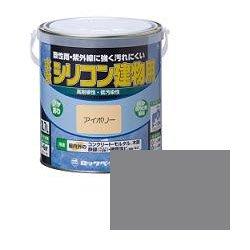 ロックペイント / H11-1101 水性シリコン建物用 ねずみいろ 1.6L