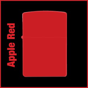 【オリジナルジッポー製作】zippoライター #200 Apple Red(アップルレッド)
