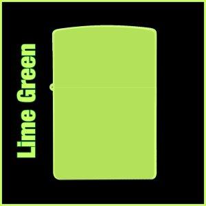 【オリジナルジッポー製作】zippoライター #200 Lime Green(ライムグリーン)