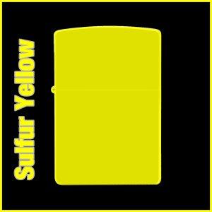 【オリジナルジッポー製作】zippoライター #200 Sulfur Yellow(サルファーイエロー)