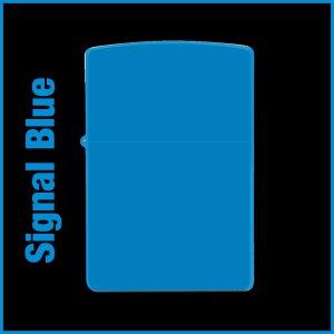 【オリジナルジッポー製作】zippoライター #200 Signal Blue(シグナルブルー)