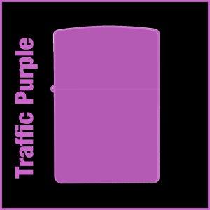 【オリジナルジッポー製作】zippoライター #200 Traffic Purple(トラフィックパープル)