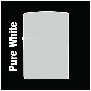 【オリジナルジッポー製作】zippoライター #200 Pure Whirte(ピュアホワイト)