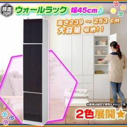 ウォールラック 幅45cm 上置き棚 セット 壁面収納 リビング 収納 キッチン 収納 食器棚 収納棚 食品棚 鏡面仕…