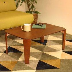 折りたたみテーブル 幅75cm リビングテ...