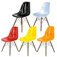 イームズシェルチェア(ウッドベース、FRP素材)全5色★サイドチェア★デザイナーズ家具リプロダクト♪