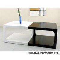 お洒落でかわいいサイドテーブル/全2色 ソファー横やお部屋のコーナーに最適 重厚感溢れる光沢仕上げ