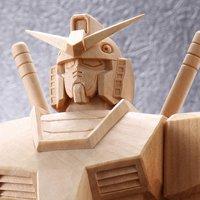 【完全限定生産】天然木製!機動戦士ガンダムRX-78-2 手彫り彫刻、ハンドメイド生産 専用桐箱ケース付