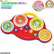 リズム おもちゃ ドラム 叩く 押す タッチ 五感を刺激 おもちゃ プレゼント 人気 キャラクター ワンワン と うーたん の おもちゃ 1才 以上