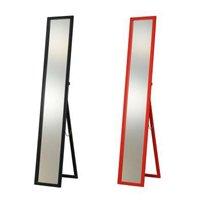 コンパクト&スリム折りたたみ式スタンドミラー/全2色 スマートデザイン全身姿見鏡 飛散防止加工