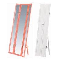 三面鏡タイプ!全身姿見鏡スタンドミラー/全2色 折りたたみ式トリプルワイドミラー3面鏡 飛散防止加工