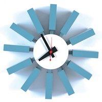 ジョージ・ネルソン、ブロッククロック壁掛時計 ネルソンクロック壁掛け デザイナーズ・リプロダクト