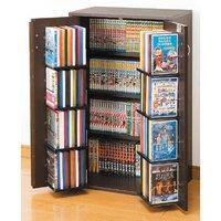 日本製 収納ラック4段 カギ付 幅59.5cm コミックラック DVDラック Blu-ray 窓下収納 大容量収納