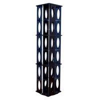 タワーラック6段 高さ132.3cm 回転ラック 収納ラック CDラック DVDラック ブルーレイラック 360度回転
