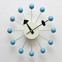 ジョージ・ネルソン,ボールクロック/ブルー単色 ネルソンクロック,壁掛時計,掛け時計 デザイナーズ