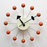 ジョージ・ネルソン,ボールクロック/オレンジ単色 ネルソンクロック,壁掛時計,掛け時計 デザイナーズ