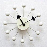 ジョージ・ネルソン,ボールクロック/ホワイト単色 ネルソンクロック,壁掛時計,掛け時計 デザイナーズ