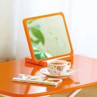 キャンディーカラー卓上コンパクトミラー/全5色 かわいい卓上ミラー,化粧用ミニ鏡 縦横自在タイプ