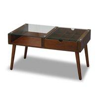 アンティーク調コレクションテーブル75cm幅 センターテーブル,ローテーブル,引出し収納付 レトロ調