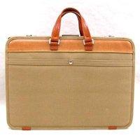 帆布製ダレス式ビジネスバッグ,日本製/全2色 帆布バッグ,ダレスバッグ,メンズ鞄,国産 本革ハンドル