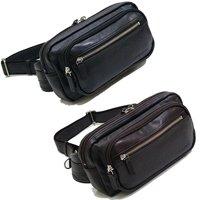 合皮レザーウエストバッグ,日本製/全2色 ショルダーバッグ,メンズバッグ,豊岡鞄,国産 斜めがけ対応