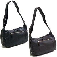 合皮レザーショルダーバッグ,日本製/全2色 メッセンジャーバッグ,メンズバッグ,豊岡鞄 国産かばん
