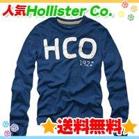 ホリスター【送料無料】ワッフルロングTシャツ,ロンT☆Hollister Co.:Fountain Valley-BLU☆秋春メンズ♪