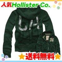 ホリスター【送料無料】フルジップフード,パーカー長袖☆Hollister Co.:Shell Beach-GRN☆秋冬メンズ♪